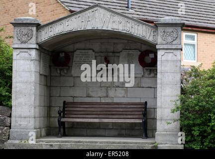 Bolehill and Steeple Grange War Memorial near Wirksworth in Derbyshire - Stock Photo