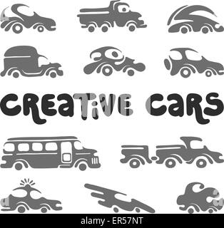 Creative cars design elements. - Stock Photo