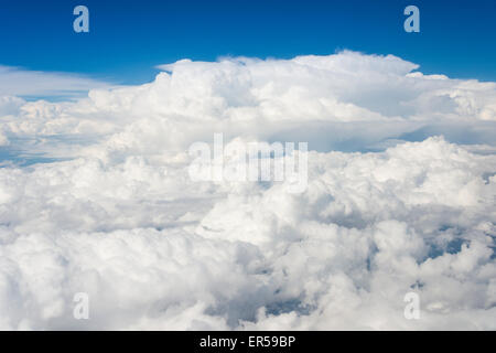 View of cloud formations from aircraft, Republic of South Africa - Stock Photo