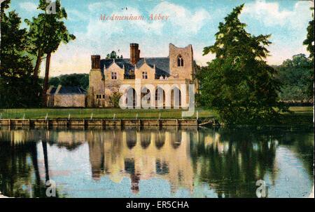 Medmenham Abbey, Medmenham, near Henley-on-Thames, Buckinghamshire, England.  1908 - Stock Photo