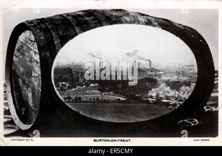 Breweries, Burton on Trent, Staffordshire, England. Brewing Industry  1922 - Stock Photo