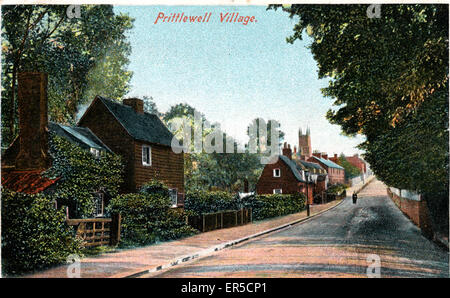 The Village, Prittlewell, Southend-on-Sea, Essex, England.  1900s - Stock Photo
