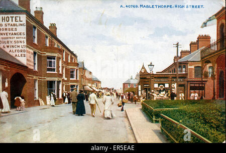 High Street, Mablethorpe, near Sutton on Sea, Lincolnshire, England.  1915 - Stock Photo