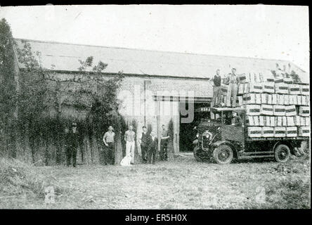 London North Eastern Railway LNER Lorry Delivery, England. (Hopeless quality)  1940s - Stock Photo