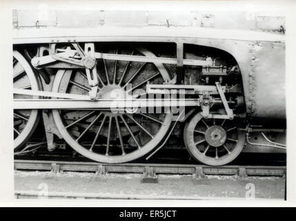 Gresley A4 Pacific Steam Locomotive , . Showing close up of Piston  1950s - Stock Photo