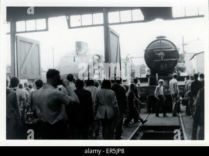 Original York Railway Museum, Yorkshire, England. Showing 4464 LNER Class A4 Pacific Steam Locomotive 'Sir Nigel - Stock Photo