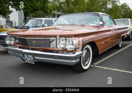 BERLIN - MAY 10, 2015: Full-size car Pontiac Bonneville, 1960. The 28th Berlin-Brandenburg Oldtimer Day - Stock Photo