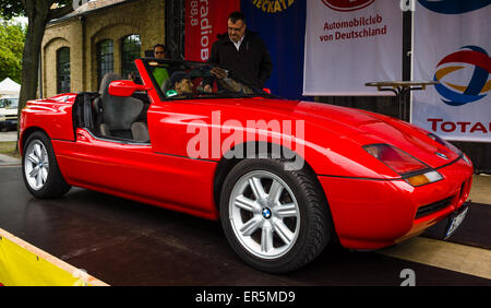 berlin may 10 2015 roadster bmw z1 rear view 28th stock photo royalty free image. Black Bedroom Furniture Sets. Home Design Ideas