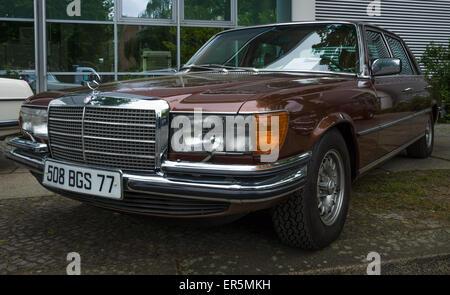 BERLIN - MAY 10, 2015: Full-size luxury car Mercedes-Benz 450SEL (W116). 28th Berlin-Brandenburg Oldtimer Day - Stock Photo