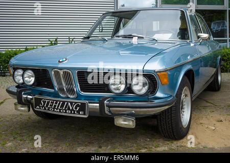 BERLIN - MAY 10, 2015: Full-size luxury car BMW New Six (E3), 1981. The 28th Berlin-Brandenburg Oldtimer Day - Stock Photo