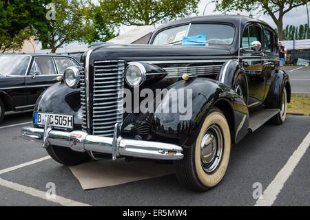 BERLIN - MAY 10, 2015: Full-size car Buick Century, 1938. The 28th Berlin-Brandenburg Oldtimer Day - Stock Photo