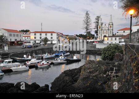 Church of Santa Maria, Madalena, Island of Pico, Azores, Portugal - Stock Photo