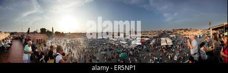 Jemaa el-Fnaa, Marrakesh, Morocco - Stock Photo