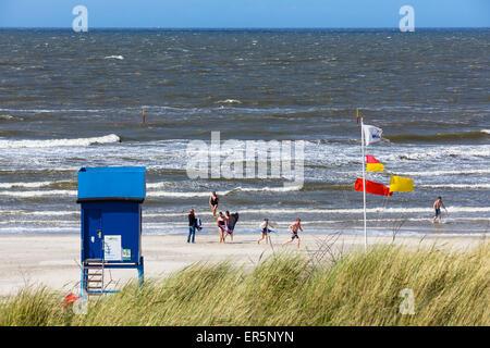 Beach, Langeoog Island, National Park, Unesco World Heritage Site, North Sea, East Frisian Islands, East Frisia, - Stock Photo