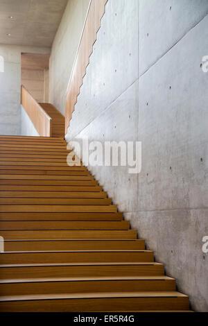 Stairway in the Georg Schaefer Museum, Schweinfurt, Franconia, Bavaria, Germany - Stock Photo