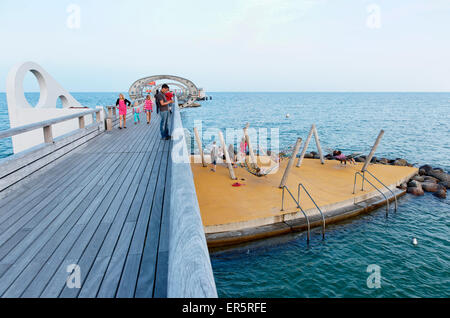 Pier, Baltic Sea, Kellenhusen, Schleswig-Holstein, Germany - Stock Photo