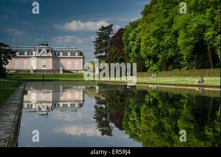 Schloss Benrath Benrath Palace, Duesseldorf, North Rhine-Westphalia, Germany - Stock Photo