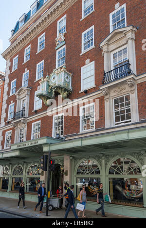 Fortnum's Chime Clock, Fortnum & Mason Department Store, Piccadilly, City of Westminster, London, England, United - Stock Photo