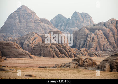 Rock fromations, Wadi Rum, Jordan, Middle East - Stock Photo