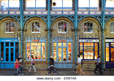 Shops in Covent Garden Central Market, Covent Garden quarter, West End, London, England, Great Britain, United Kingdom - Stock Photo