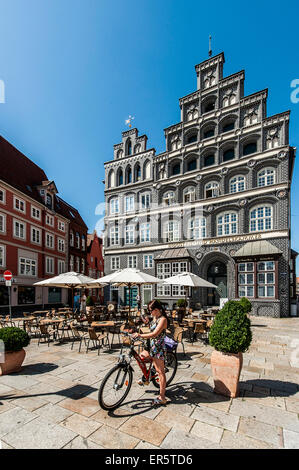 Chamber of Industry and Commerce building, Am Sande, Lueneburg, Lower Saxony, Germany - Stock Photo