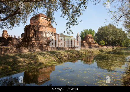 Temple in Sukhothai Historical Park UNESCO World Heritage Site, Sukothai Province, Thailand, Asia - Stock Photo