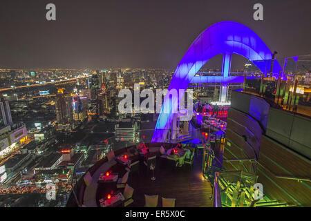 Red Sky Rooftop Bar, Centara Grand, Bangkok, Thailand - Stock Photo