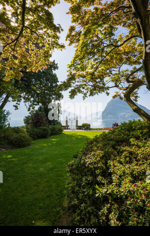 Parco Civico, Lugano, Lake Lugano, canton of Ticino, Switzerland - Stock Photo