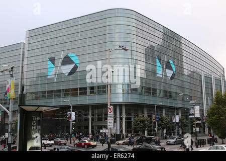 San Francisco, California, USA. 27th May, 2015. The logo of the Google I/O developers conference seen on the Moscone - Stock Photo