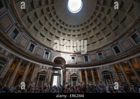 Interior of the Pantheon, Piazza della Rotonda, Rome, Lazio, Italy - Stock Photo