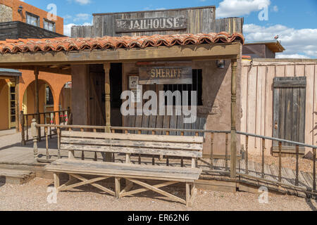 Old Sheriff station with jail, Tombstone, Arizona, USA - Stock Photo