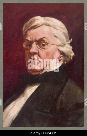 WILLIAM MAKEPEACE THACKERAY English novelist  1811 - 1863 - Stock Photo