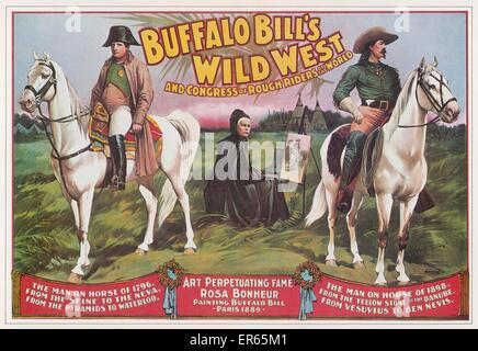BUFFALO BILL'S WILD WEST SHOW Bill Cody's 'rough rider' extravaganza, featuring scenes of Napoleon, and an 'onstage - Stock Photo