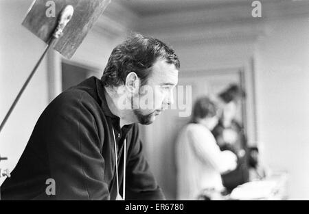 Peter Hall seen here on location at the Compton Verney Estate, Warwickshire during the filming of the Royal Shakespeare - Stock Photo