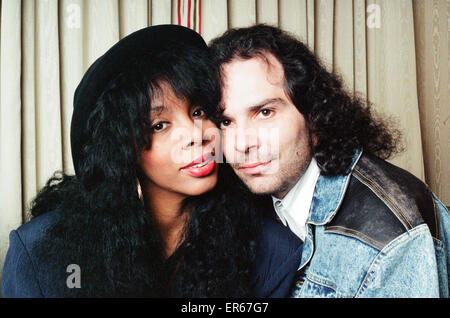 Donna Summer and husband Bruce Sadano, 2nd May 1989. - Stock Photo