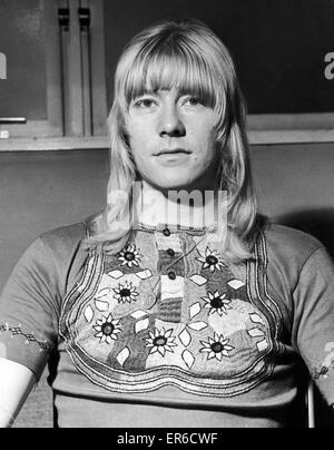 Brian Connolly, of 'The Sweet' pop group who are now no1 in the pop charts, photographed at the BBC Theatre, Shepherds - Stock Photo