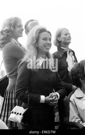 Equestrian Eventing at the Munch Olympic Games, Friday 1st September  1972. Princess Anne watches the Three Day - Stock Photo