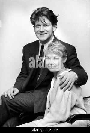 Dame Judi Dench and kenneth branagh mark the start of their Shakespeare season at the Birmingham Repertory Theatre. 29th February 1988