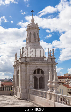 Sao vicente de fora architectural details in Lisbon, Portugal - Stock Photo