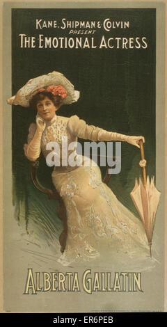 Kane, Shipman & Colvin present the emotional actress, Alberta Gallatin. Date c1906. - Stock Photo