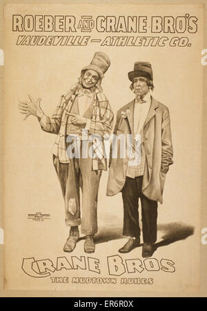 Roeber and Crane Bro's Vaudeville-Athletic Co. Date c1898. - Stock Photo