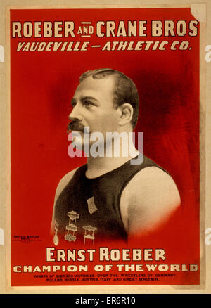 Roeber and Crane Bros Vaudeville-Athletic Co. Date c1898. - Stock Photo