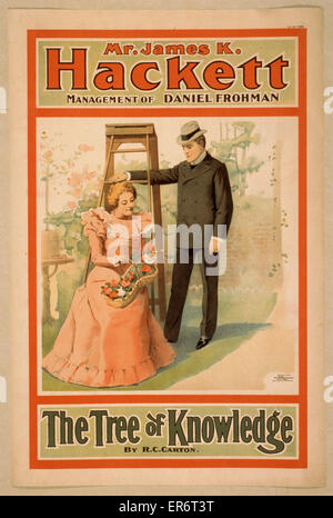Mr. James K. Hackett. The tree of knowledge by RC Carton. Date c1898. - Stock Photo