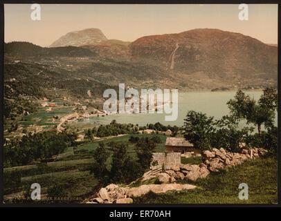 Ulvik Hardanger, Hardanger Fjord, Norway. Date between ca. 1890 and ca. 1900. - Stock Photo