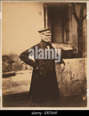 General Sir James Simpson, GCB. Sir James Simpson, three-quarter length portrait, wearing hat and coat, standing, - Stock Photo