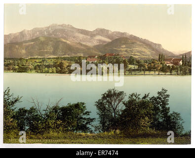 Herreninsel, Chiemsee, Upper Bavaria, Germany. Date between ca. 1890 and ca. 1900. - Stock Photo