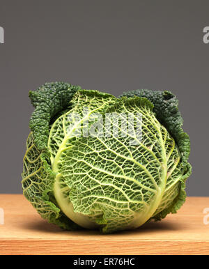 Cabbage on worktop - Stock Photo