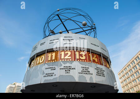 The World Time Clock (Weltzeituhr) at Alexanderplatz in Berlin, Germany. - Stock Photo