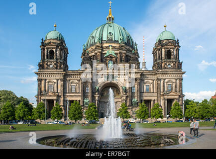 Berlin Cathedral (Berliner Dom) on Museum Island in the Mitte district of the German capital city - Stock Photo