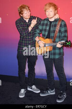 New York, NY, USA. 28th May, 2015. Ed Sheeran at a public appearance for Madame Tussauds Unveils Wax Figure of Ed - Stock Photo